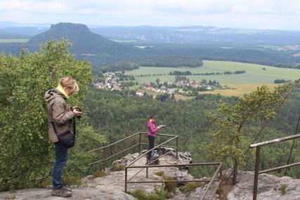 Blick auf Lilienstein – noch ohne Regenwolken