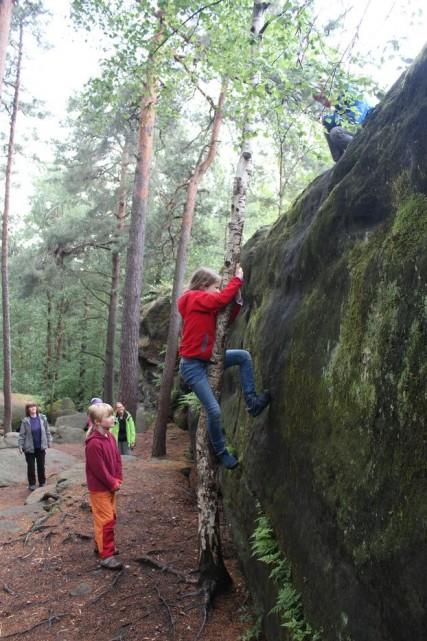 Klettern unter Nutzung natürlicher Gegebenheiten