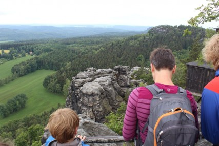Sehnsuchtsblick auf den Kletterfelsen